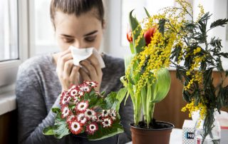 women suffering from allergies